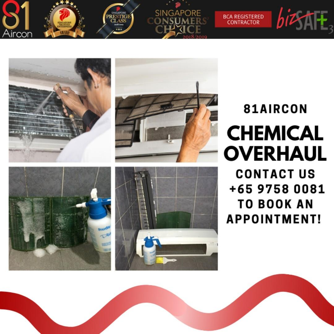 Aircon Chemical Overhaul Service