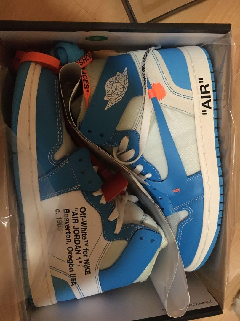 Authentic off white x air Jordan 1 unc from supply
