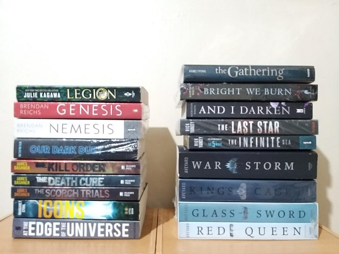 Brand new and pre-loved books for sale - Red Queen, Death Cure, Icons, The Last Star