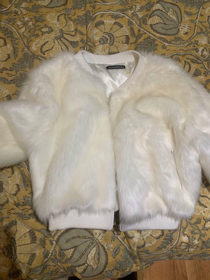Brandy Melville Faux Fur Jacket