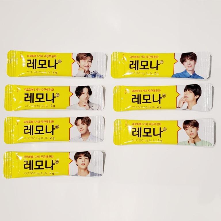 BTS LEMONA Pakage Heart can Random 60pcs Pharmacy Package