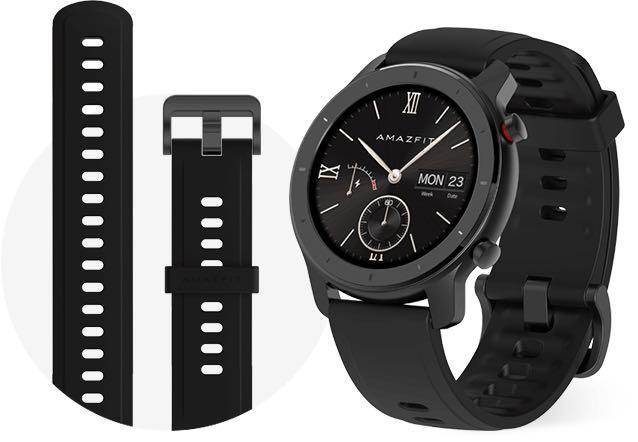 [ENGLISH] Amazfit GTR Smart Watch 42mm in Starry Blackwith AMOLED Xiaomi Mi Huami Watch