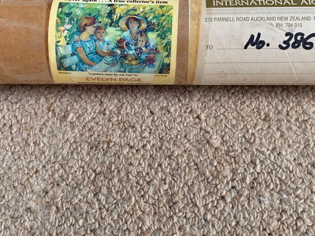 Evelyn Page Signed Framed Print 'Luncheon under the Ash Tree'