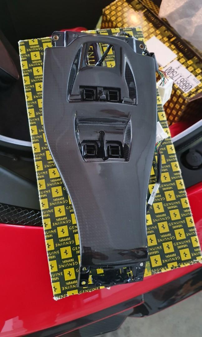 Ferrari 458 Gearbox Control Switch Surround Panel Console 2PCS 100% Carbon Fiber
