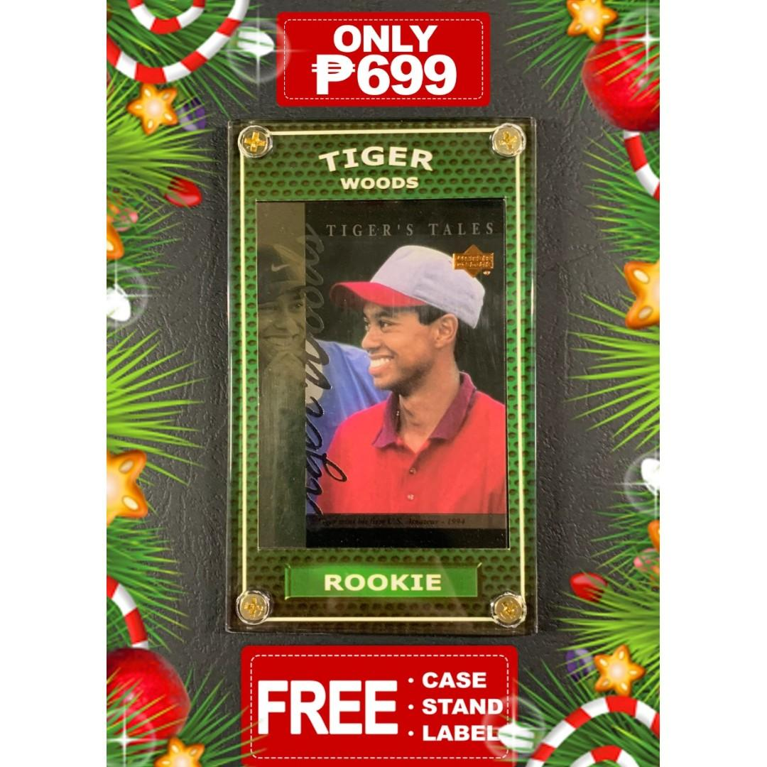 Golf Card Tiger Woods Rookie UD #TT9 Holiday Special 699
