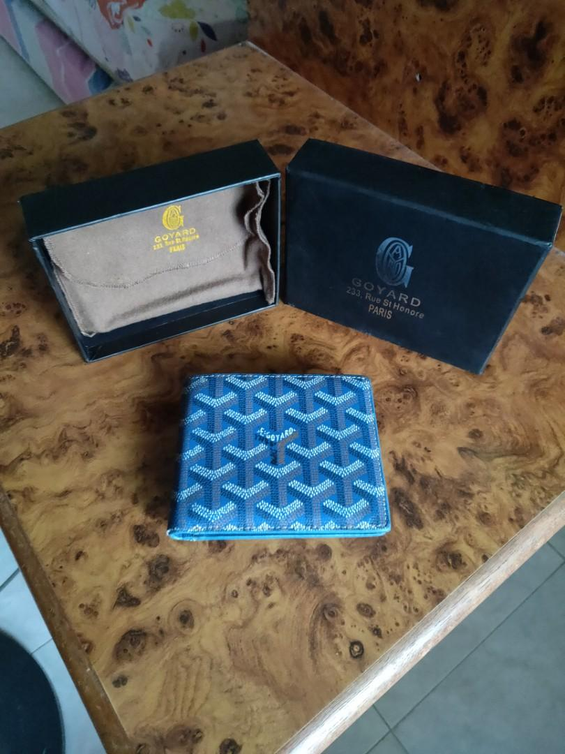 Goyard blue wallet