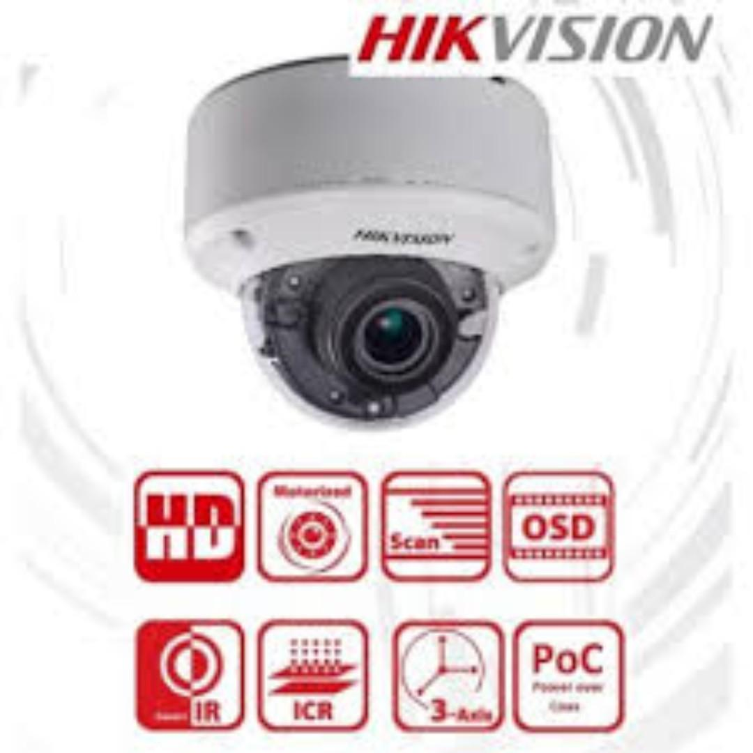 Hikvision DS-2CE56D8T-VPIT3ZE 2 MP Ultra Low-Light Varifocal Turbo HD vandal dome camera with Power over coax