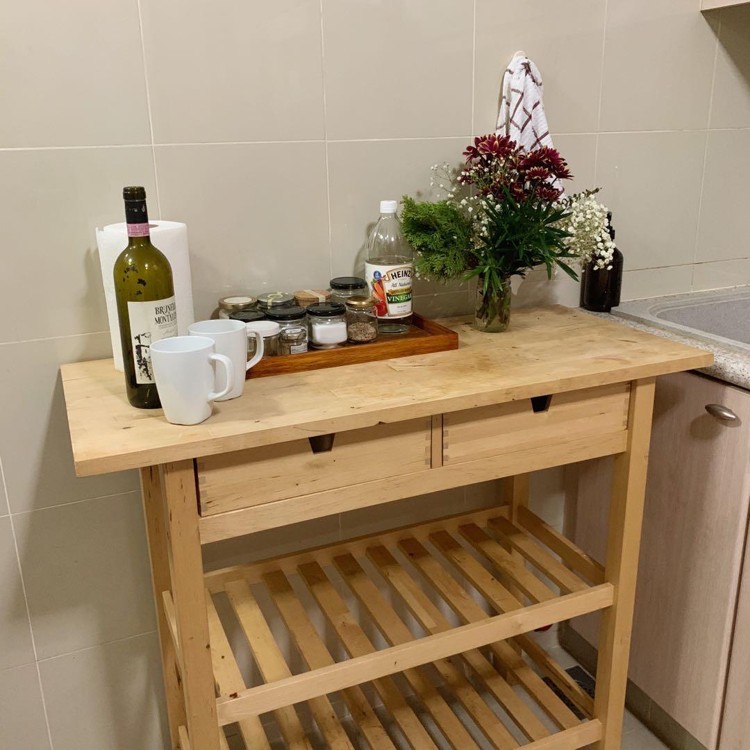 IKEA FORHOJA kitchen island / trolley
