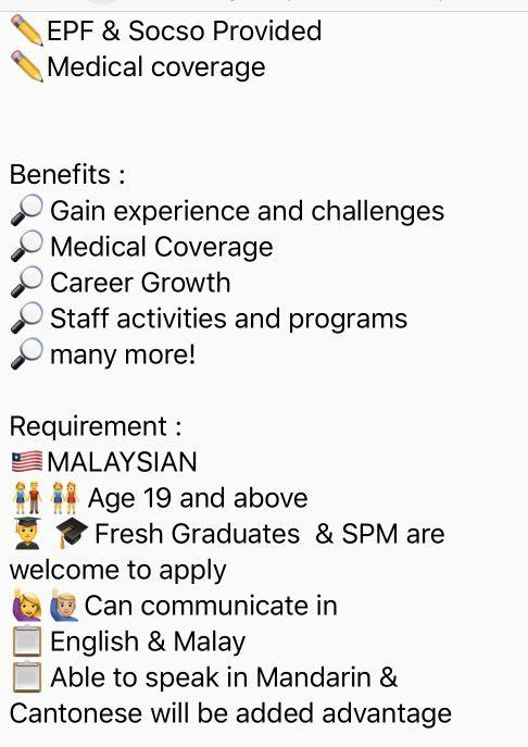 Job opportunities in Customer Service and Telemarketing