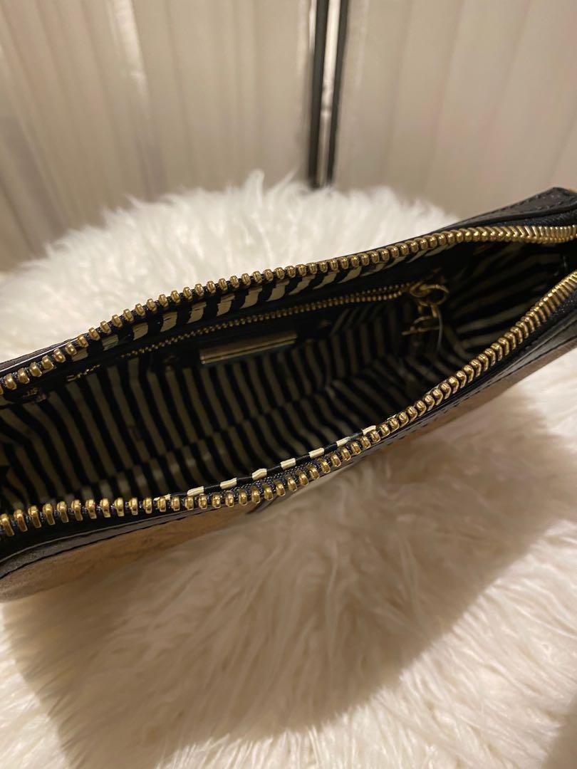 L.A.M.B by Gwen Stefani Monogram Brown and Black Leather Handbag