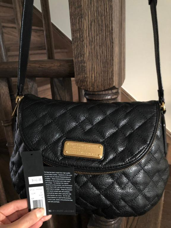 MARC BY MARC JACOBS 'Natasha' Quilted Leather Crossbody Bag, Black (Original $440)