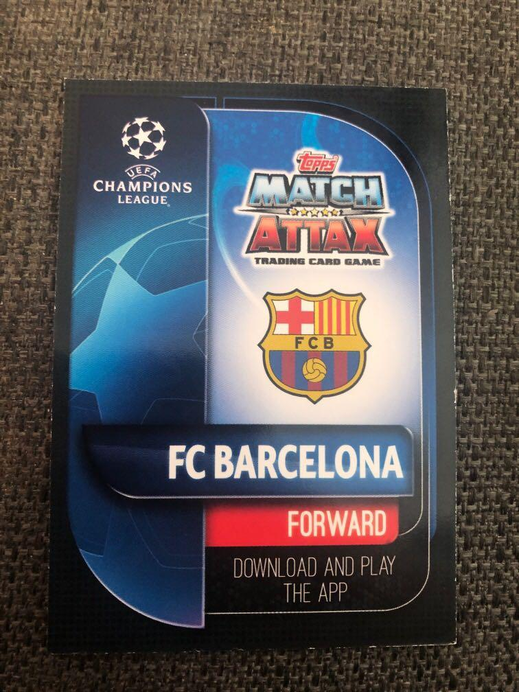 Match Attax Lionel Messi silver limited edition