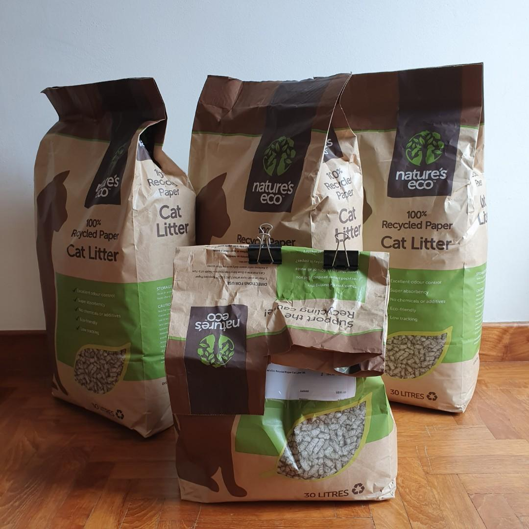 Nature's Eco Recycled Cat Litter in 30l packs