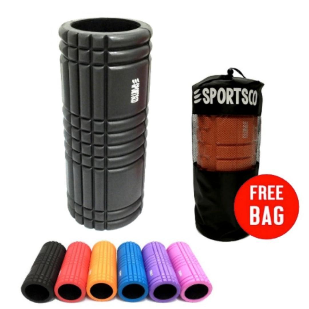 NEW Flexi Grid Foam Roller (Black Inner Core) - FREE Nylon Bag - Massage Roller
