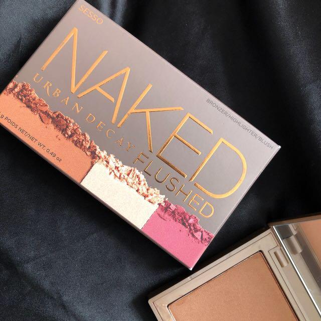 NEW Urban decay naked flushed bronzer , highlighter and blush palette