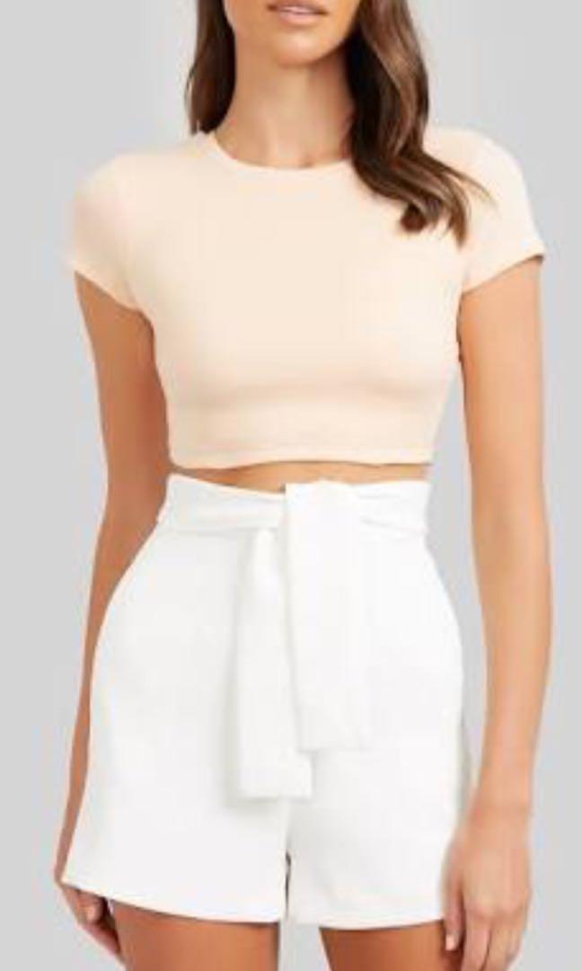 New without tags Kookai tie shorts white size 38 (10)