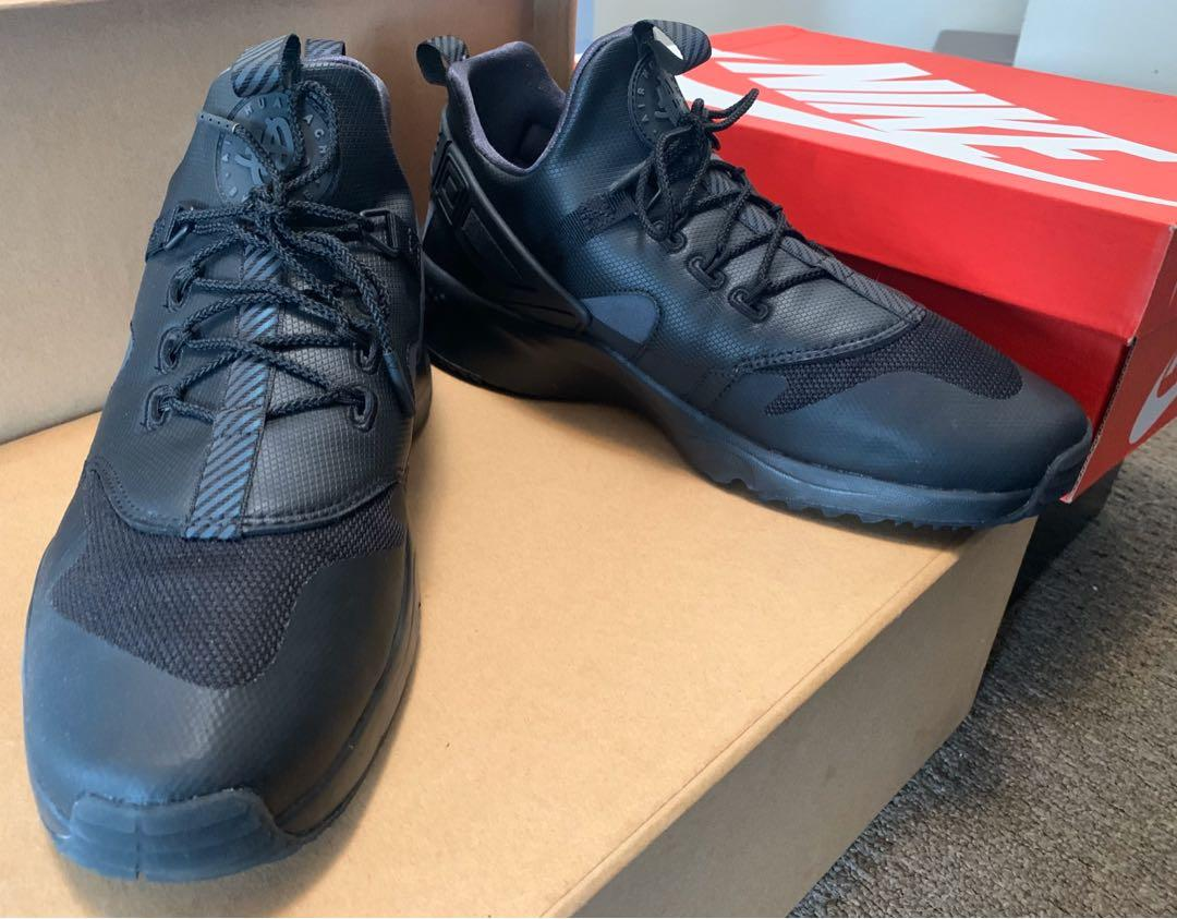 Nike Anthracite Air Huarache All Black Size US 11.