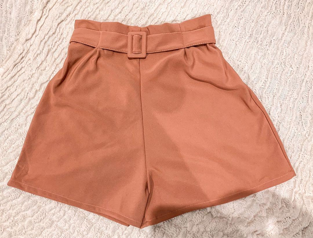 Old Rose High-waisted Shorts