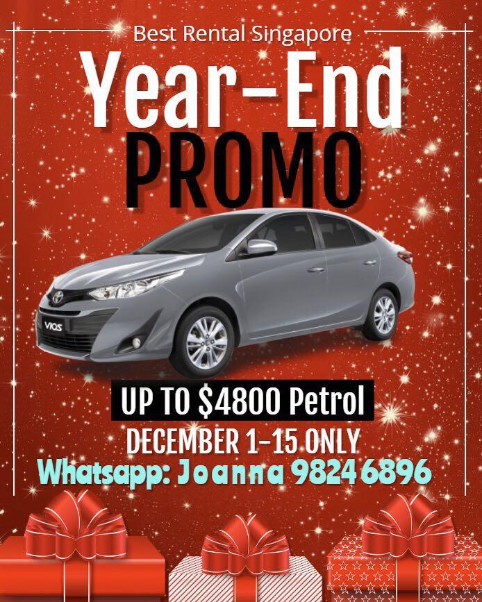 PHV Year End Rental Promo! - Vios/Prius Plus for Grab