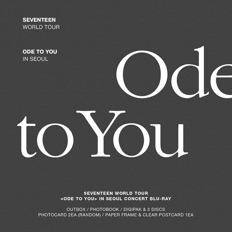 [PO] Seventeen World Tour Ode To You In Seoul (Bluray)