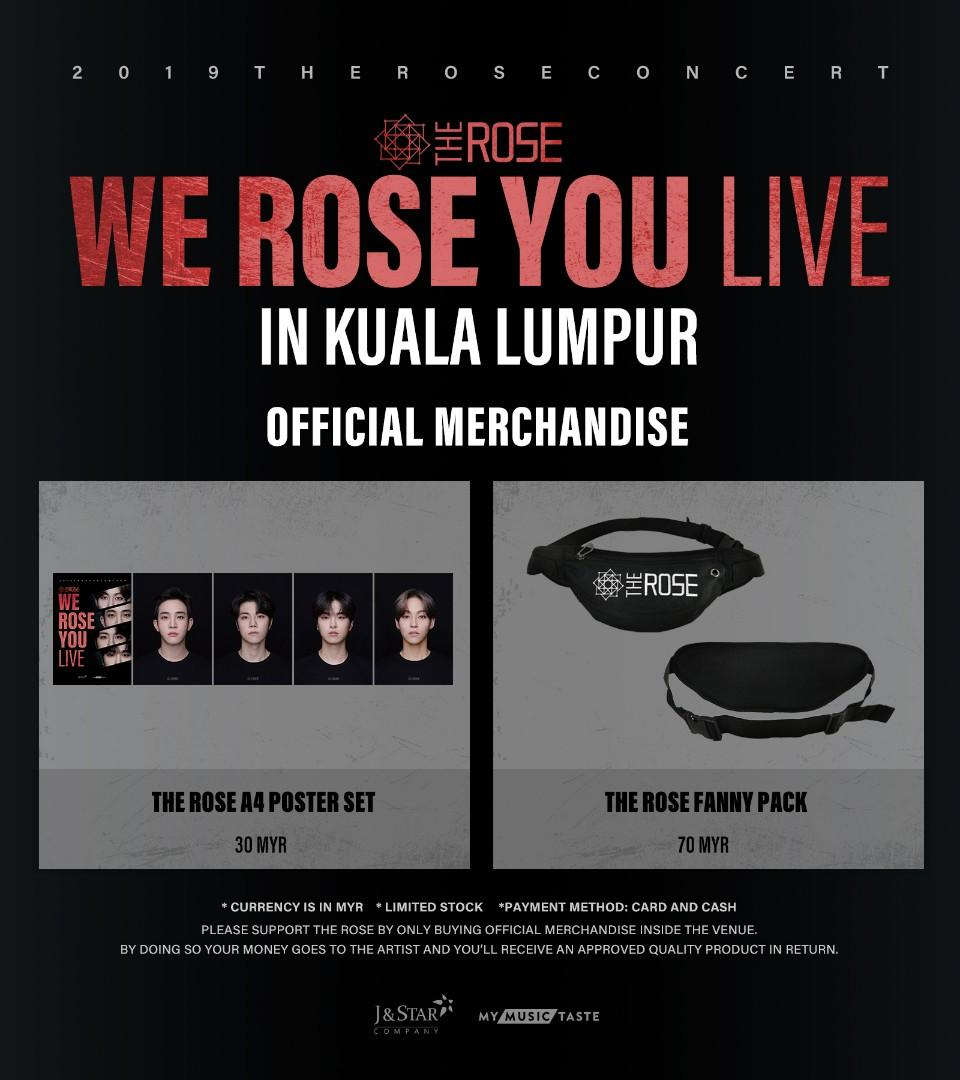 [PURCHASING SERVICE] The Rose - We Rose You in KL Official Merchandise