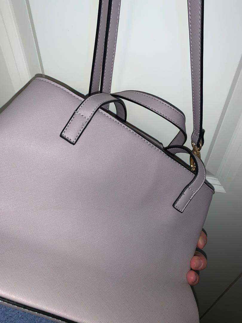 PURPLE SHOULDER OR ARM BAG