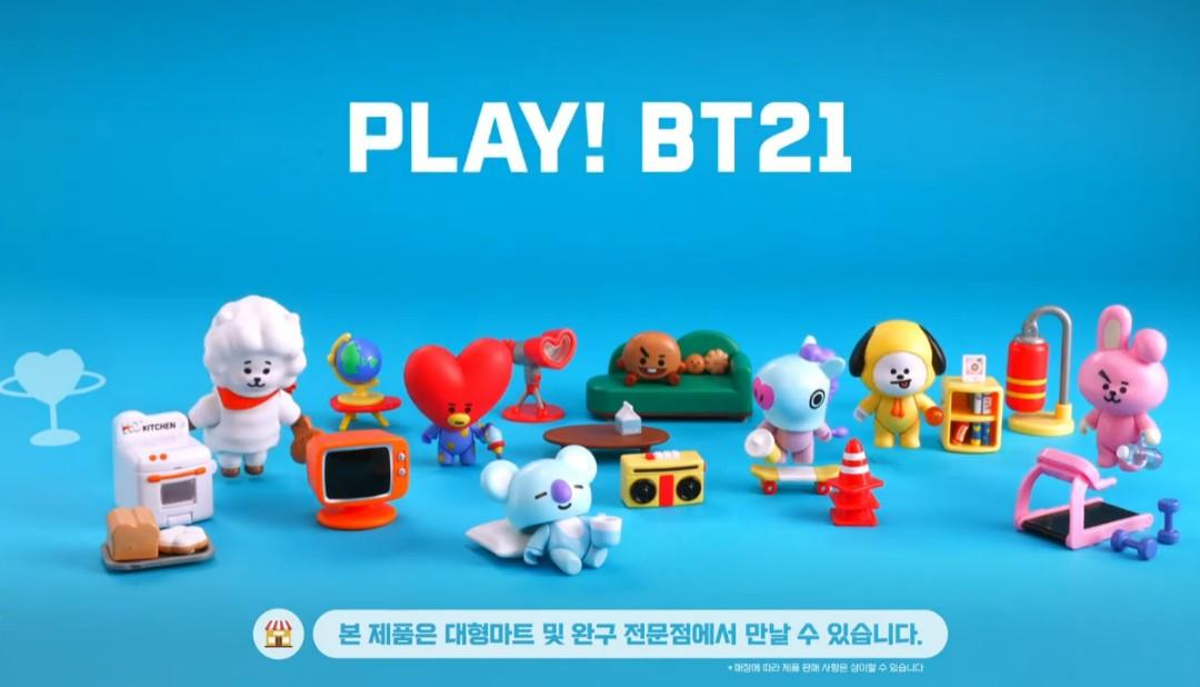 (Ready Stock) Official BTS BT21 Collectible Figure Blind Pack Vol.1