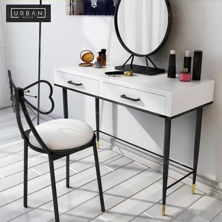 Rebanis Contemporary Black White Vanity Table Chair Furniture Tables Chairs On Carousell