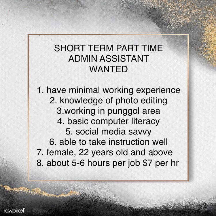 short term part time admin