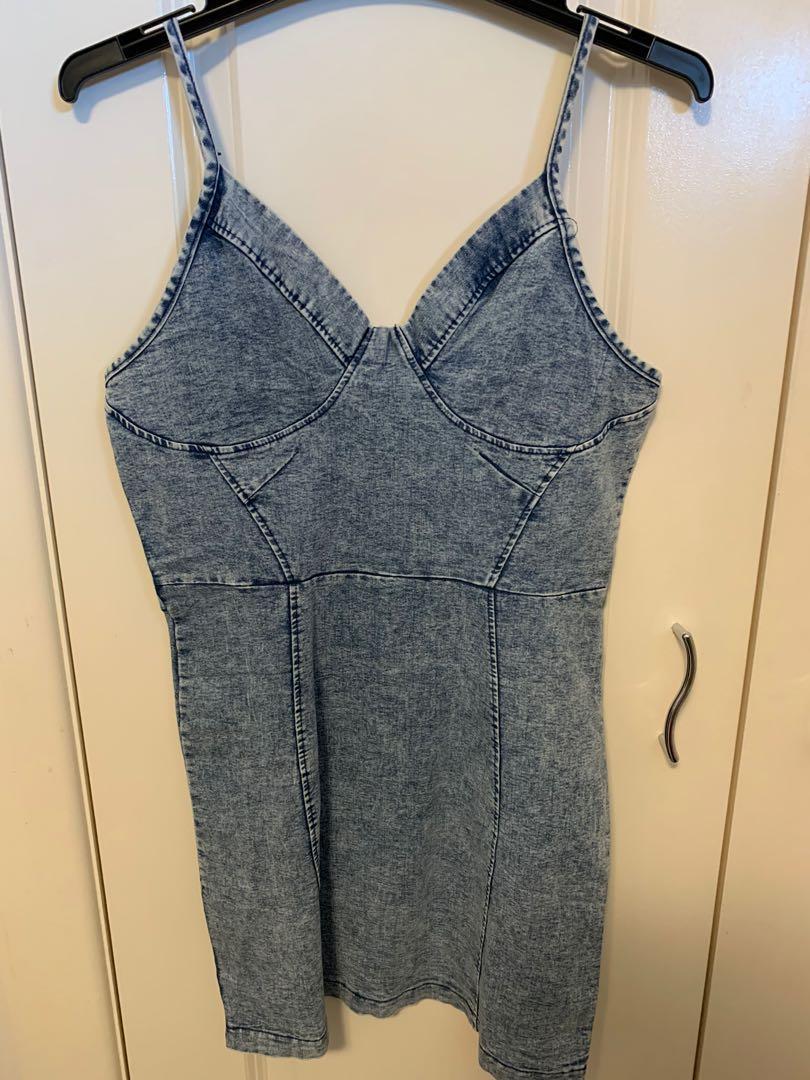 STRETCHY DENIM DRESS
