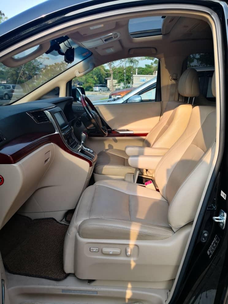 Toyota Vellfire 2.4 Pilot Seat - Kereta Sewa Murah Puchong