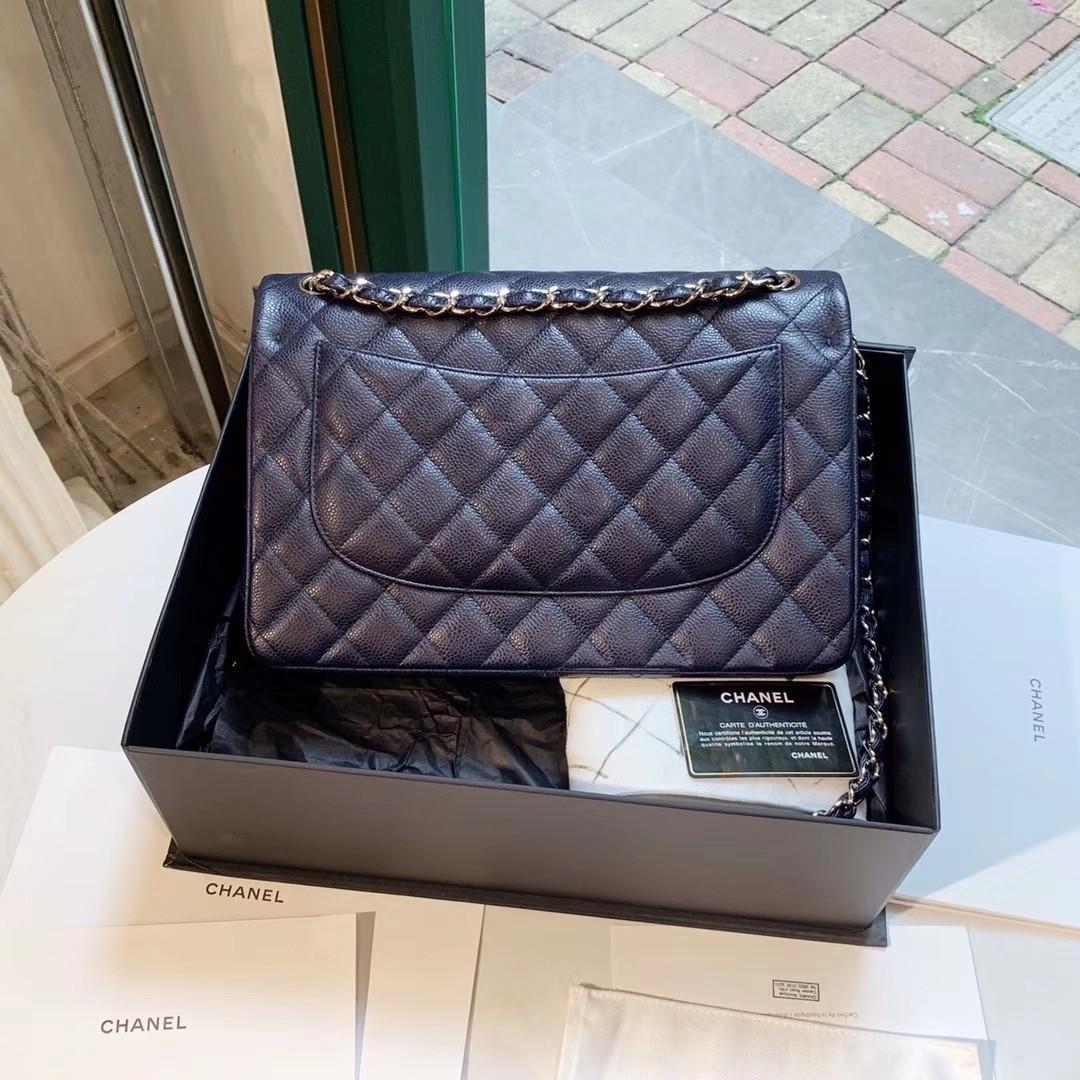 Unused Classic Chanel Caviar CF Jumbo Classic Flap