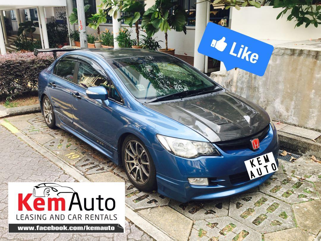 Weekday sporty MOD Car Sedan Coupe MPV Rental Avail (VW scirocco Honda Civic integra Stream Kia Cerato Forte swift sport Toyota previa Altis