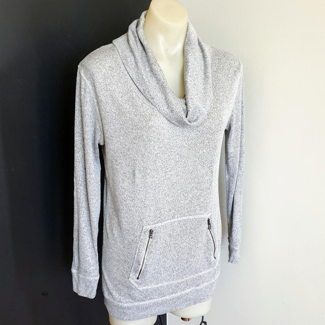 Women's size 10 'TARGET' Gorgeous grey long sleeved cowl neck top jumper -AS NEW