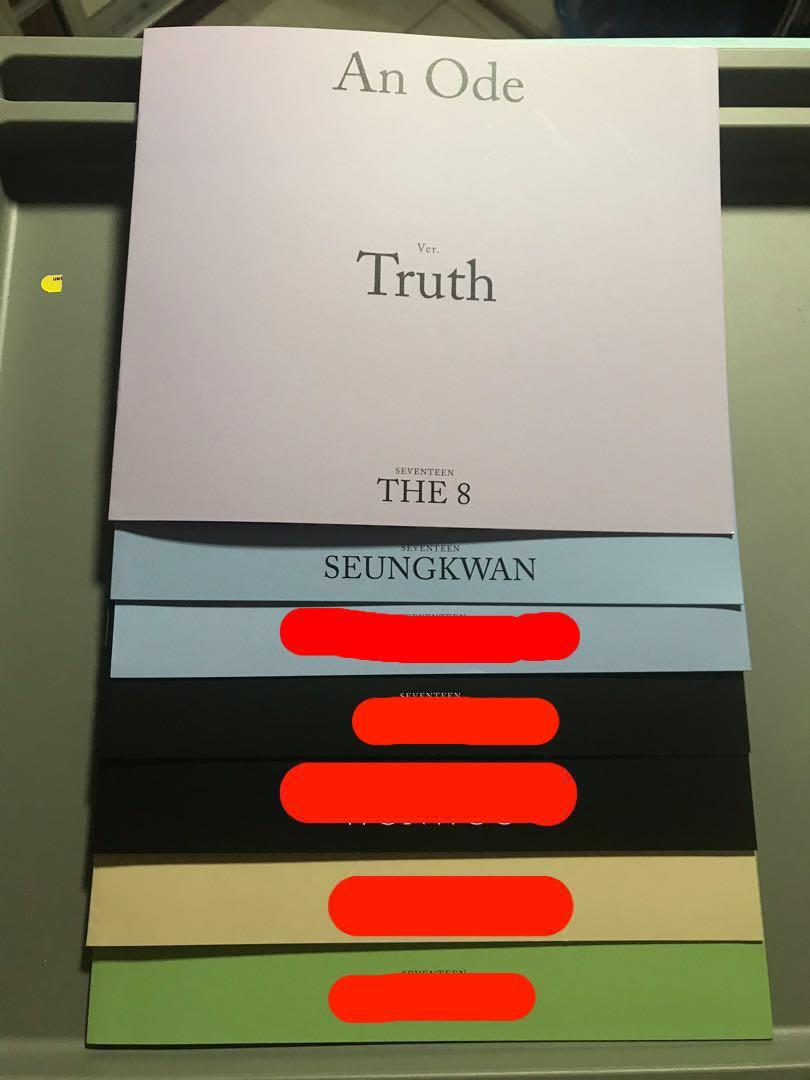 [WTT/WTS] SEVENTEEN AN ODE PHOTOCARD, FOLDED POSTER AND MINI PHOTOBOOK