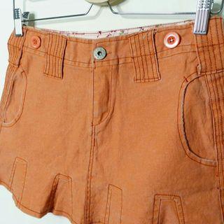 橘色牛仔短裙