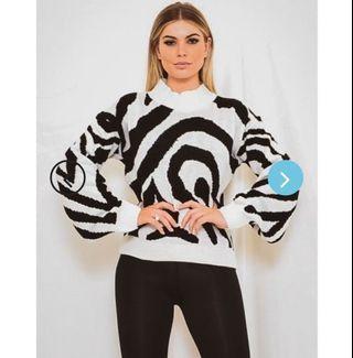 Vivichi Zebra Print Sweater