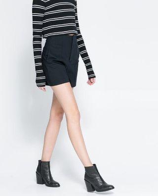 REPRICED Zara High Waisted Black Shorts