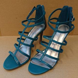 Strappy heels Payless Christian Siriano Heather hijau size 10 (US) 42.5 (EU)