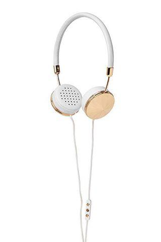 Frends gold and white headphones