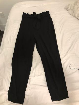 H&M High Waist Tie Pants size 6