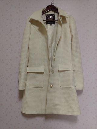 KnightsBridge質感米白色千鳥紋合身外套