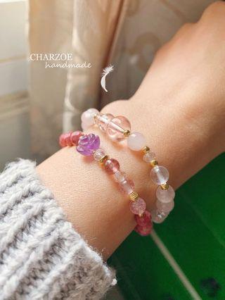 ▫️CHARZOE▫️2串組合聖誕🎄禮物促銷🌹薔薇石➕粉晶葫蘆