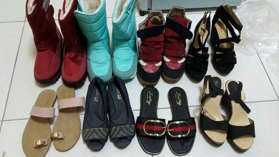 Assorted shoes,sandals