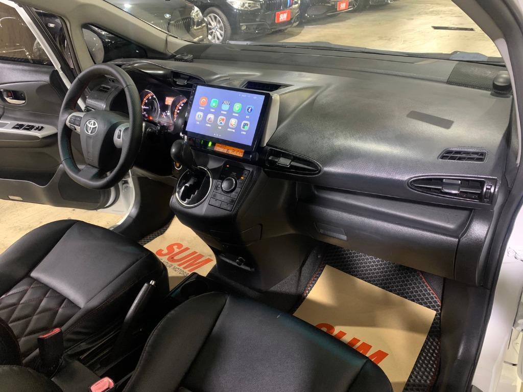 正2010年 Toyota Wish 2.0G 高階運動紅縫線格陵紋皮椅版.免鑰匙啟動