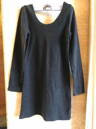 黑色緊身棉上衣