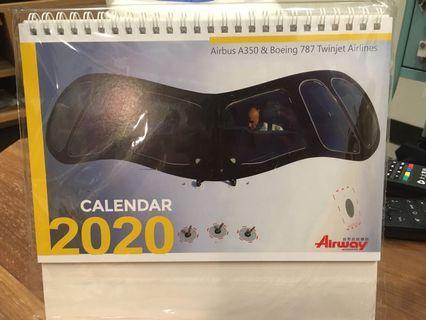 2020年飛機迷必收!Airbus A350 boeing 787 年曆