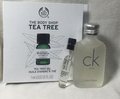 ck one 10ml 小香水+天然茶樹精油