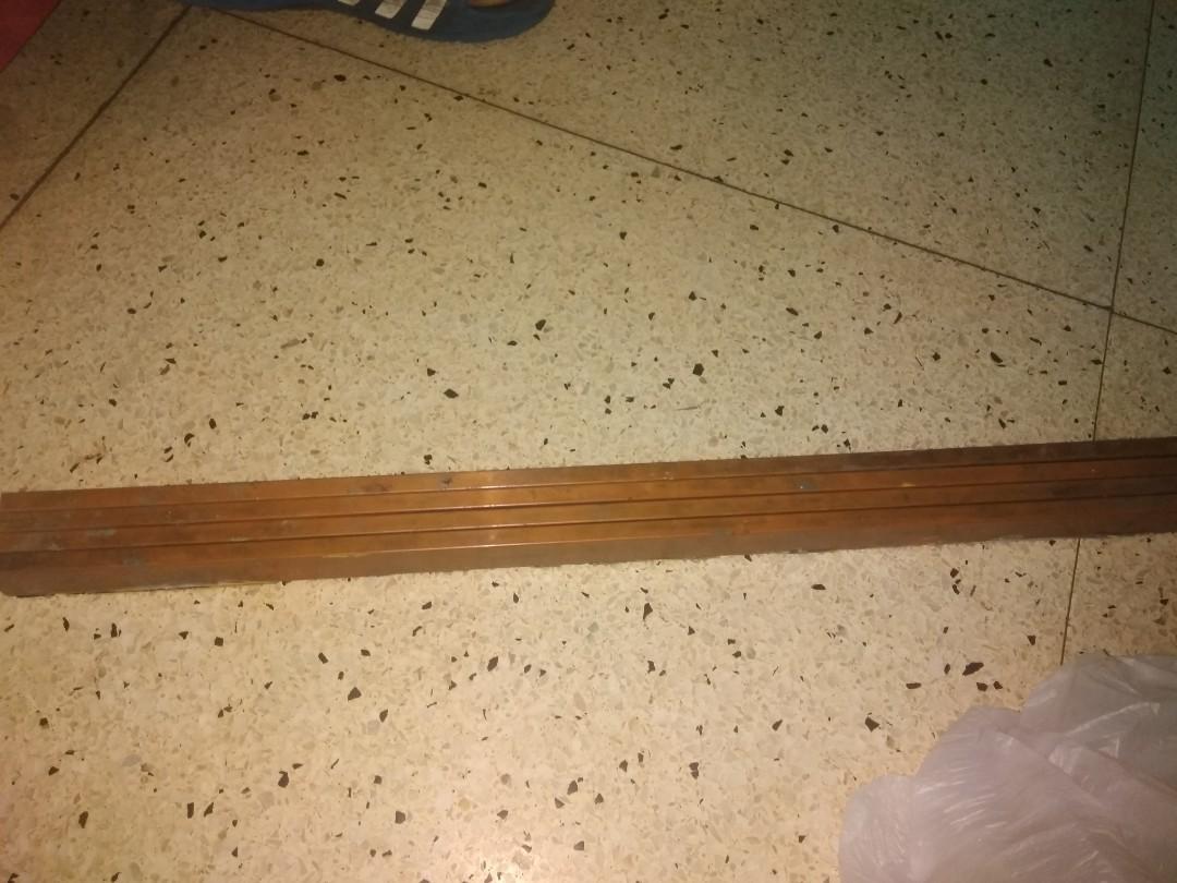 4 pcs Copper bar 3/8 in x 1 in x 2ft
