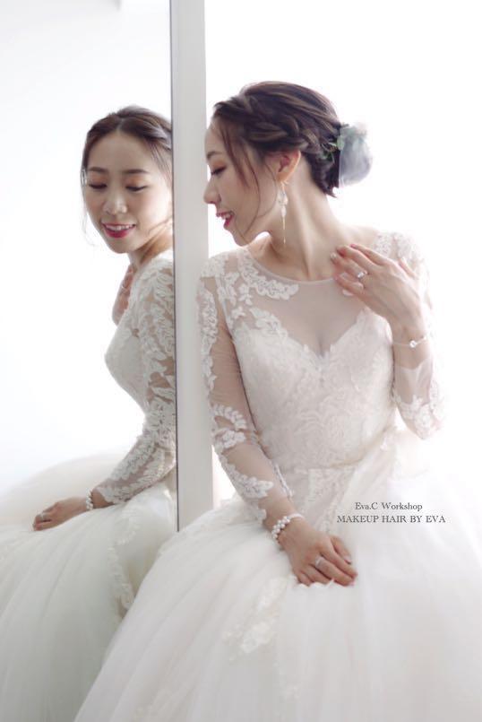 🌟新娘化妝髮型半日6小時/全日15小時優惠(高清噴槍化妝)🌟